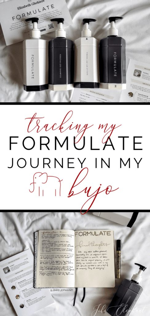 Tracking My Formulate Hair Journey in My Bullet Journal + GIVEAWAY