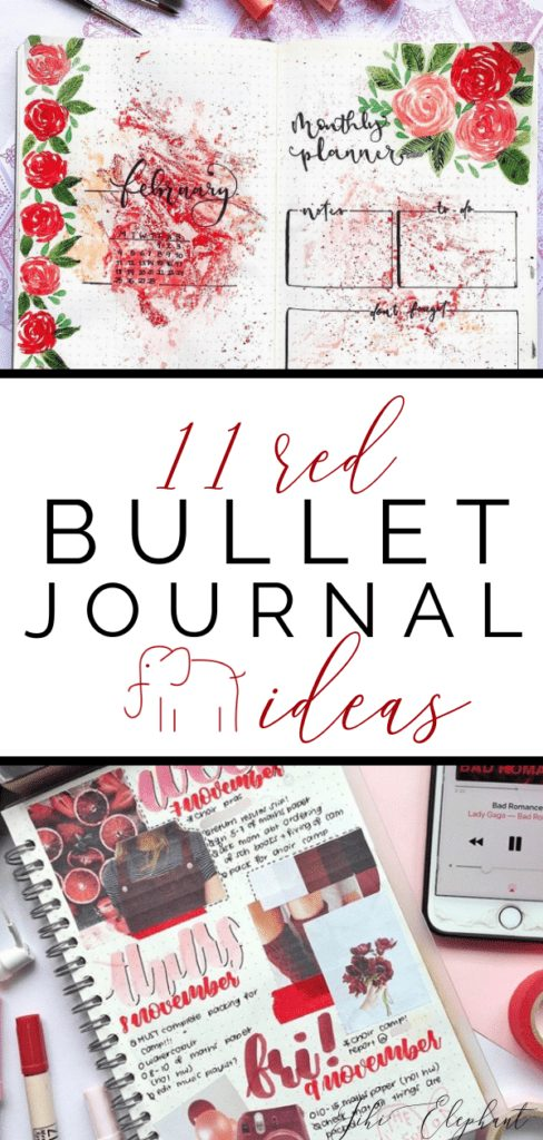 11 Awesome Red Bullet Journal Layout Ideas