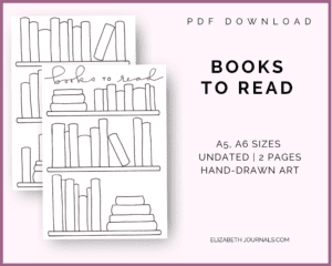 books to read_a4 a5 sizes_undated_2 pages_handdrawn art_pdf download