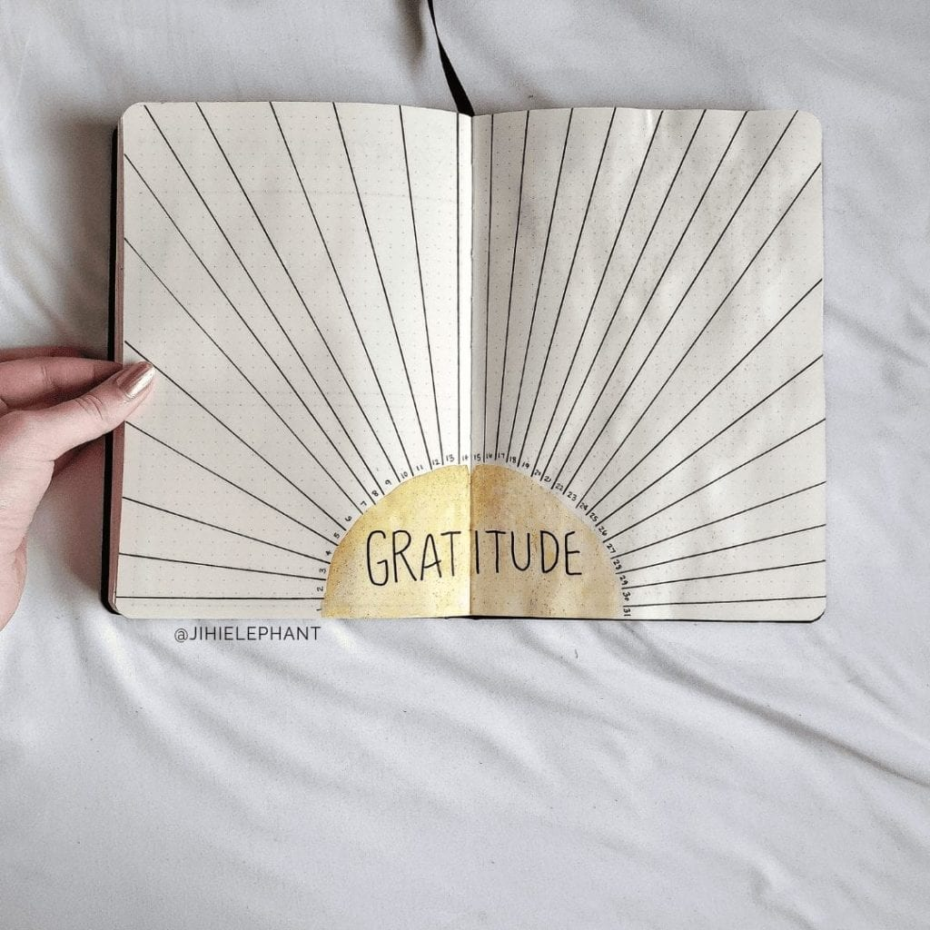 yellow sunshine gratitude tracker Gi