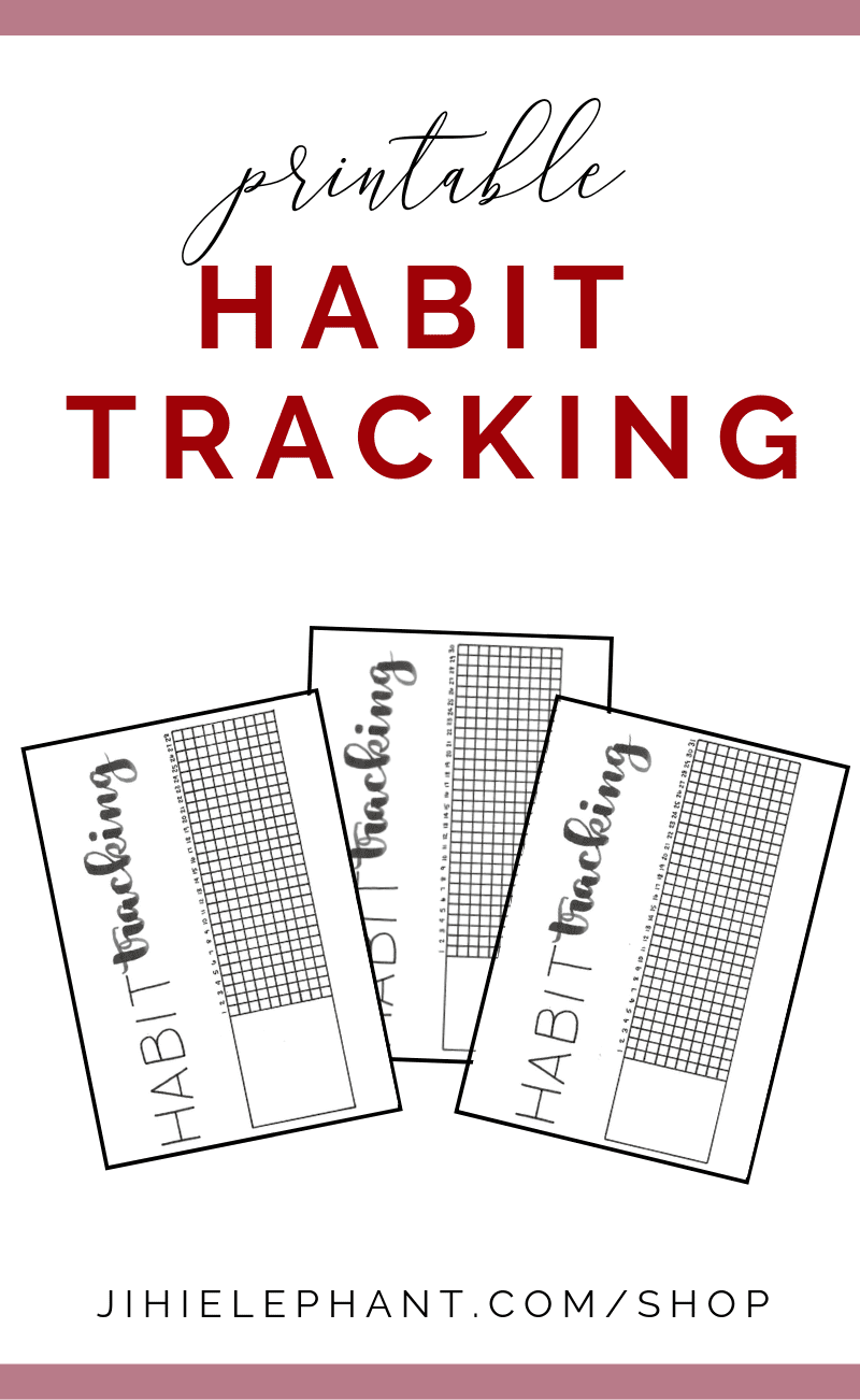 Printable Habit Tracking Bullet Journal Inspired Monthly Grid Layout   A5 Size   Download