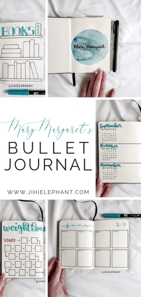 Mary Margaret's Aqua Blue Bullet Journal | Client Gallery