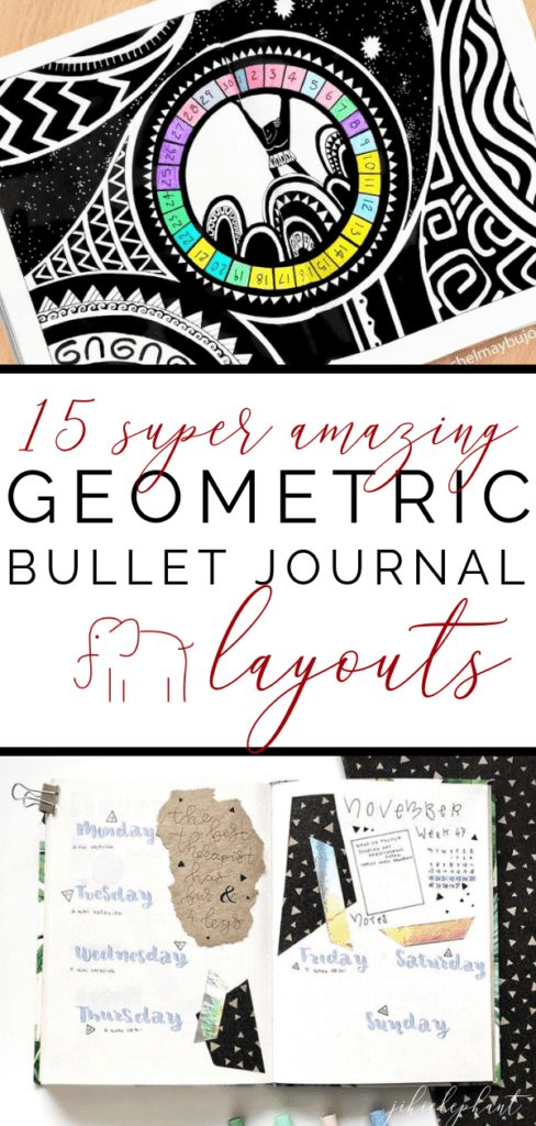 I am a huge fan of geometric shapes and patterns. I decided to use them in my own bullet journal this month for March and wanted to share some more ways geometry can be used to make amazing bullet journal spreads. Check out these 15 super amazing geometric bullet journal layouts!