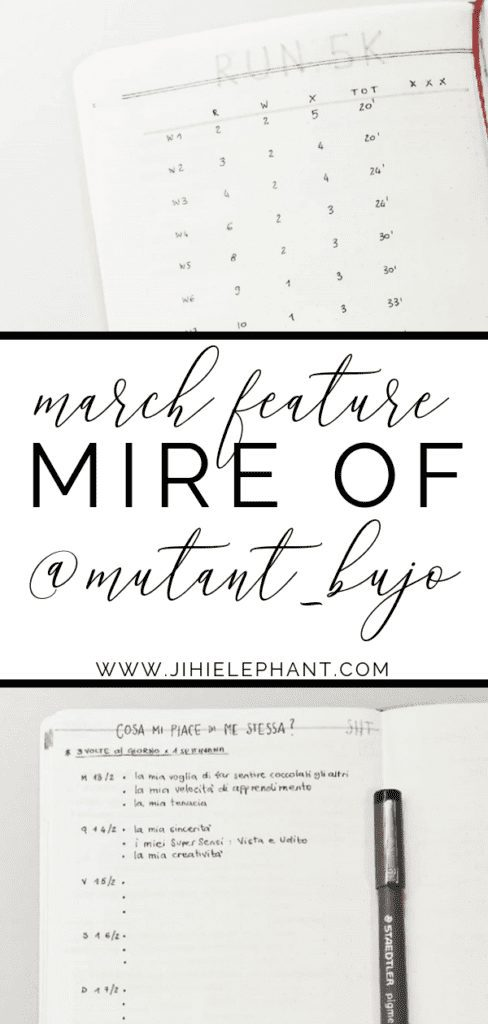 March Bullet Journal Feature | Mire of @mutant_bujo