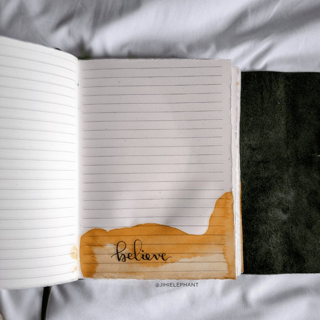 Pim's Empowering Words Watercolor Notebook