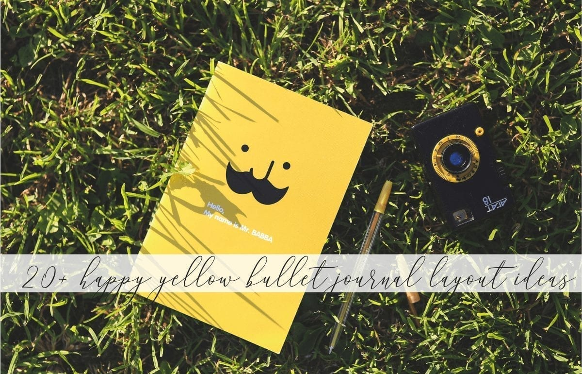 18 Happy Yellow Bullet Journal Layout Ideas