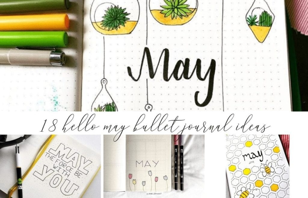 18 Inspiring May Hello Title Pages For Your Bullet Journal