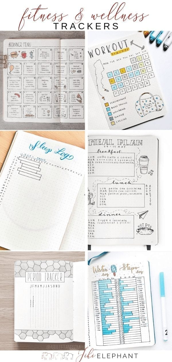 35 Motivating Fitness & Wellness Bullet Journal Layouts