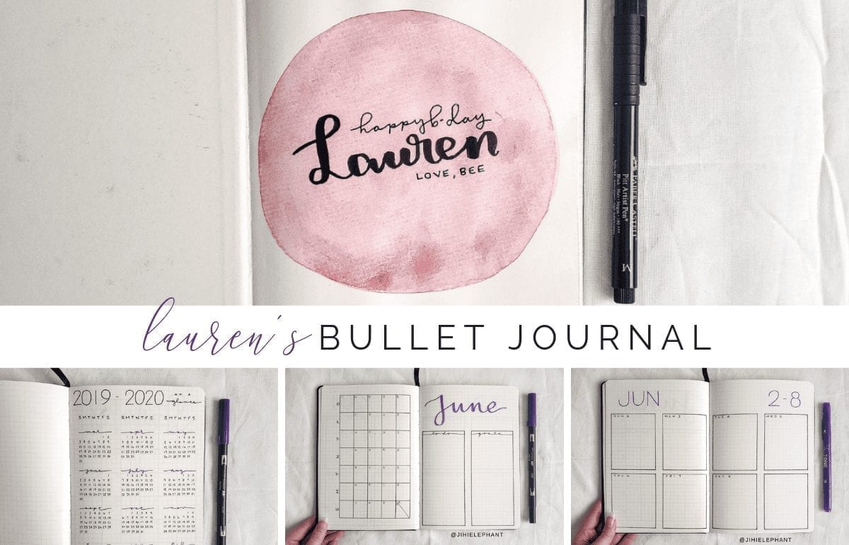 Lauren's Purple Birthday Bullet Journal | Client Gallery