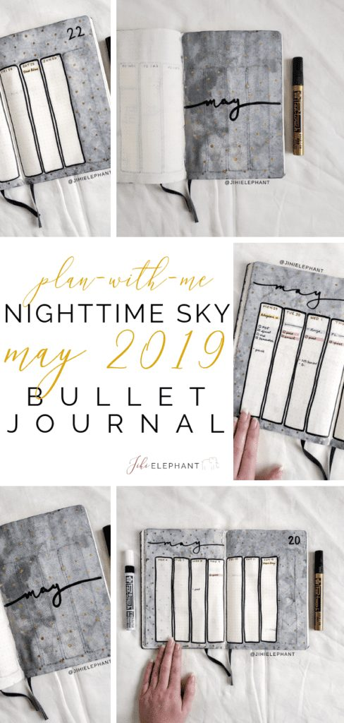 Nighttime Sky May 2019 Bullet Journal