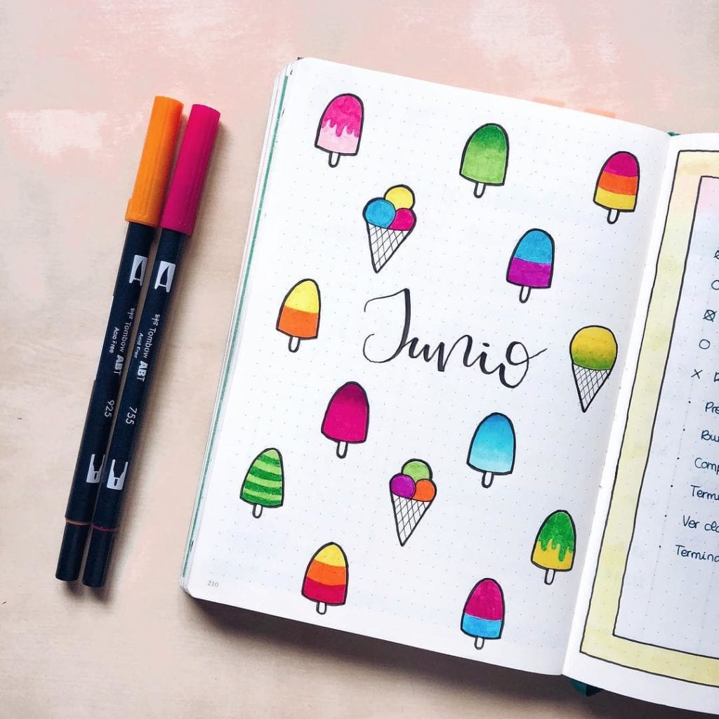 ice cream and popsicle junio cover page