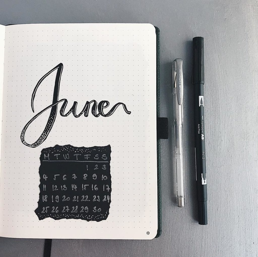 june cover page black_lorasnotes