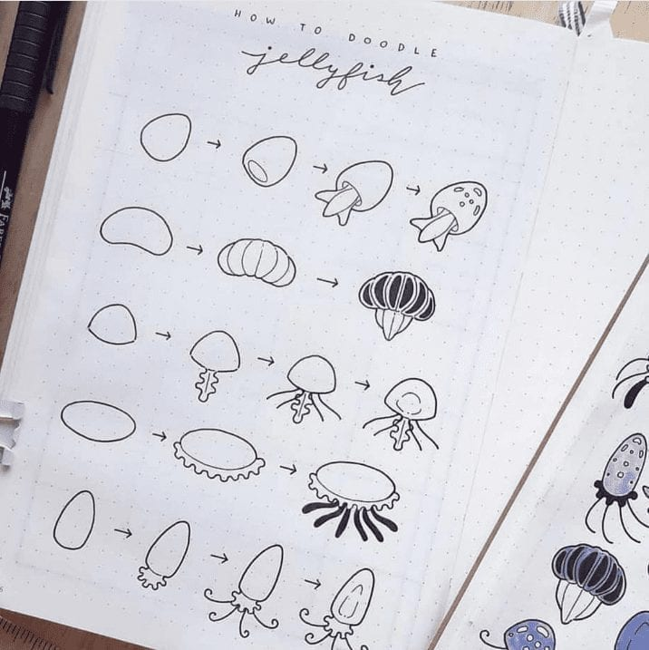 doodle guides for underwater creatures