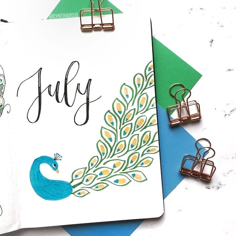 Hello July Peacock by @cynthiabujo