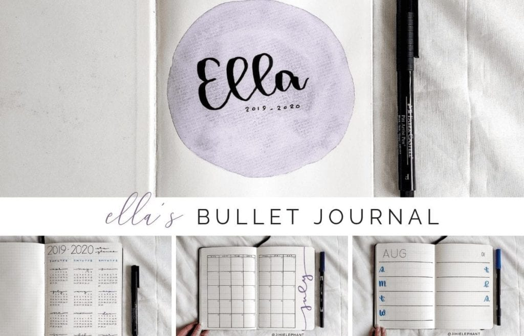 Ella's Purple and Blue Bullet Journal | Client Gallery
