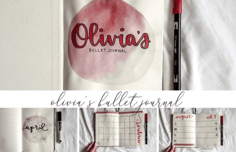 Olivia's Pink & Gray Bullet Journal | Plan-with-Me