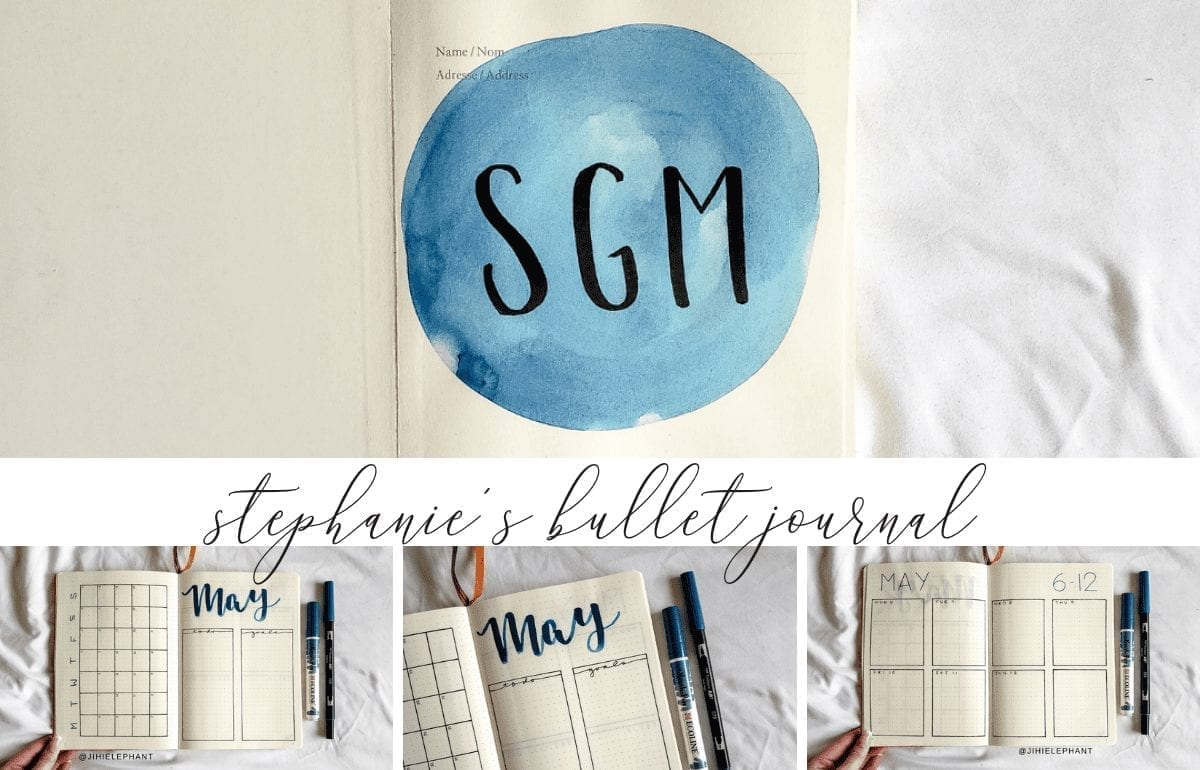 Stephanie's Blue & Orange Bullet Journal | Client Gallery