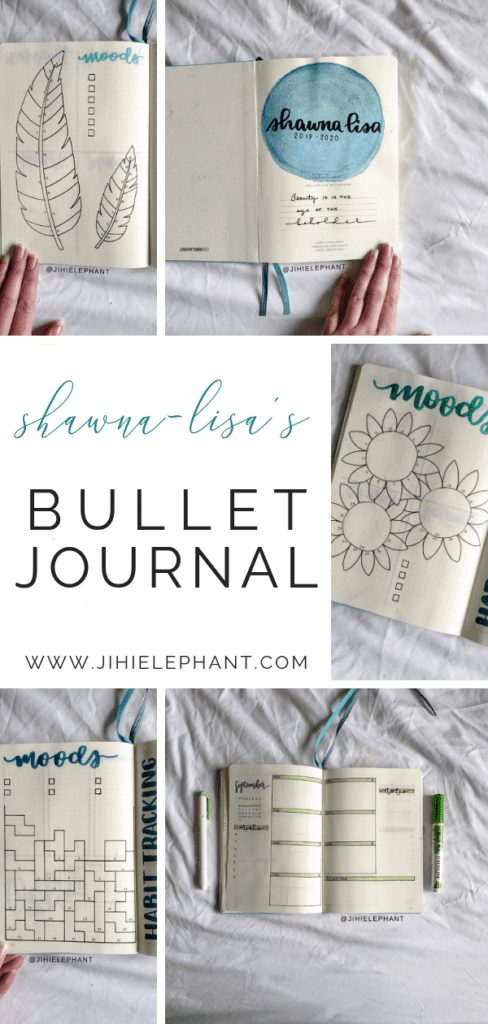 Shawna-Lisa's Blue & Green Bullet Journal | Client Gallery