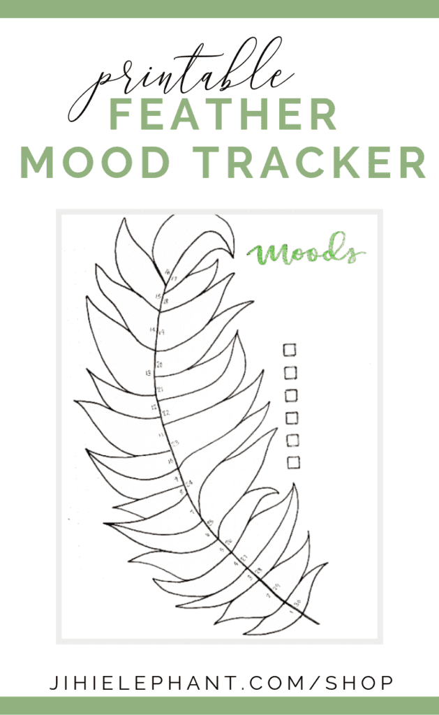 Feather Mood Tracker Bullet Journal Printable