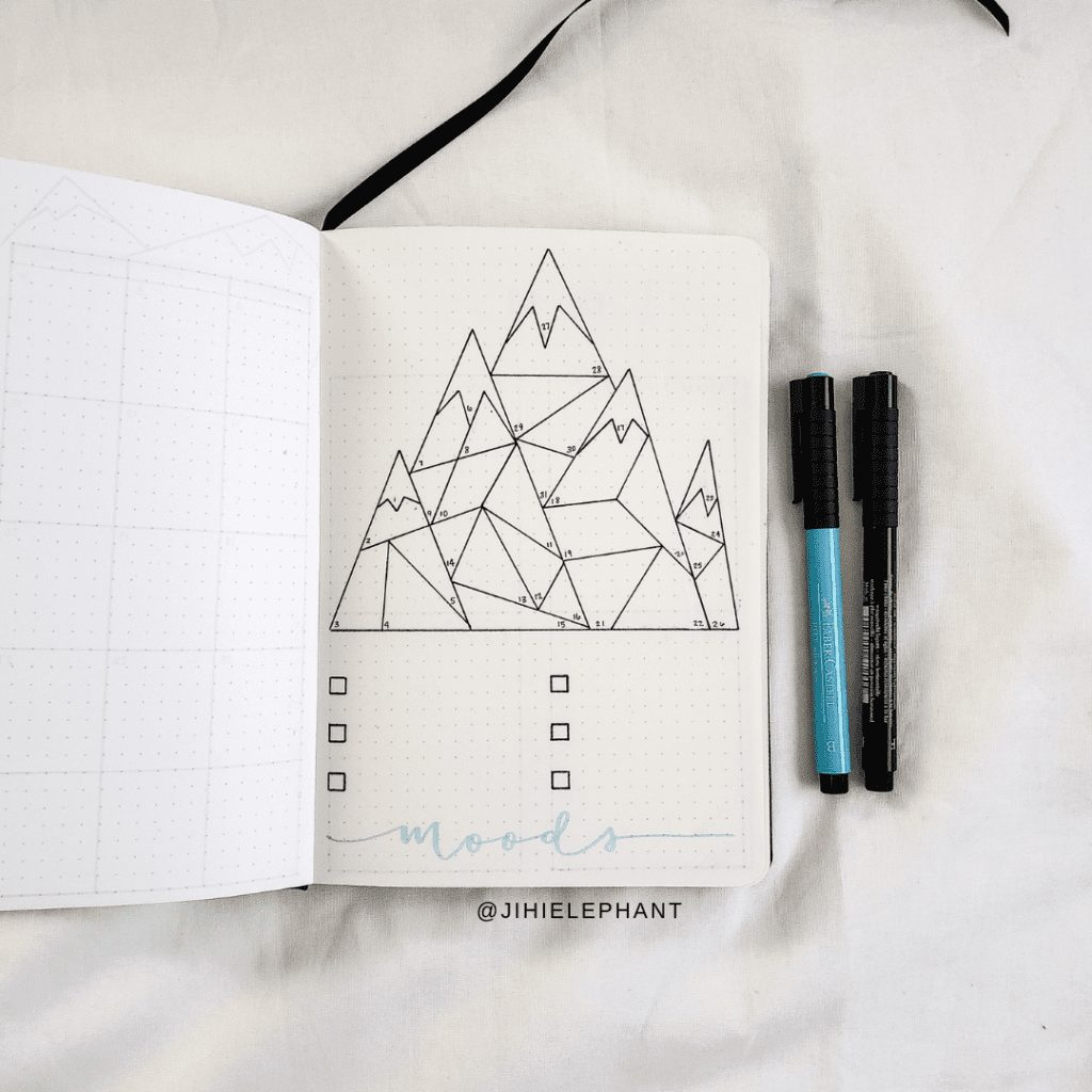 Ashley's Baby Pink & Baby Blue Bullet Journal   Client Gallery