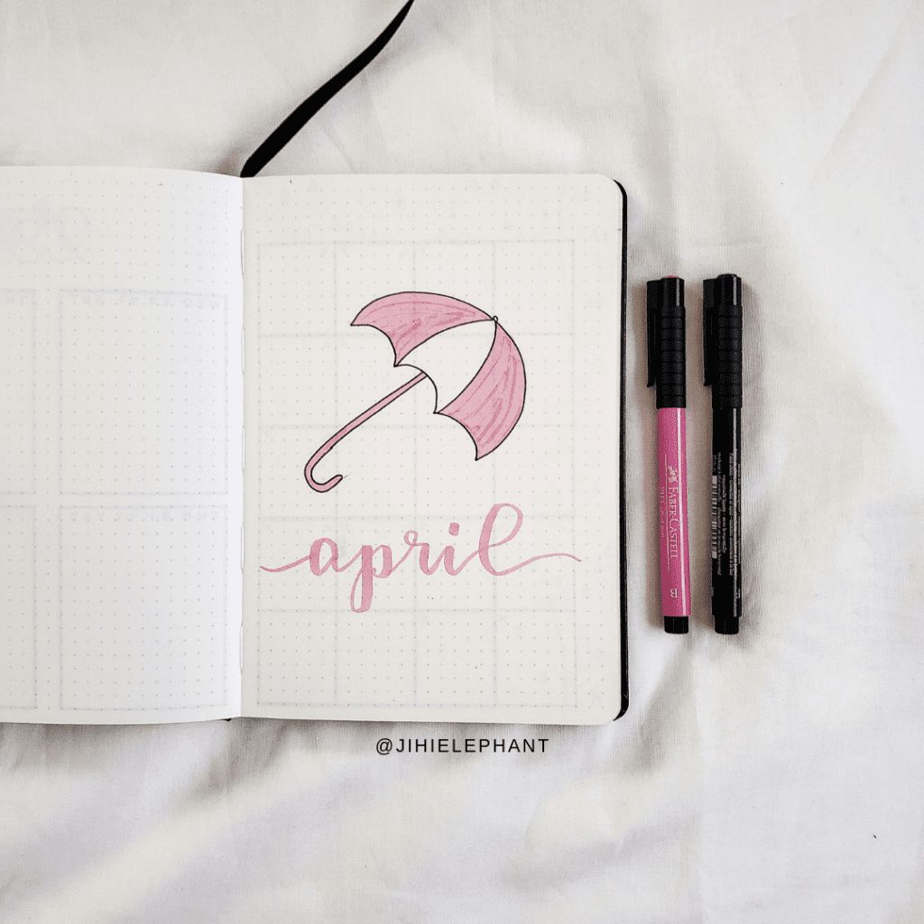 Ashley's Baby Pink & Baby Blue Bullet Journal | Client Gallery