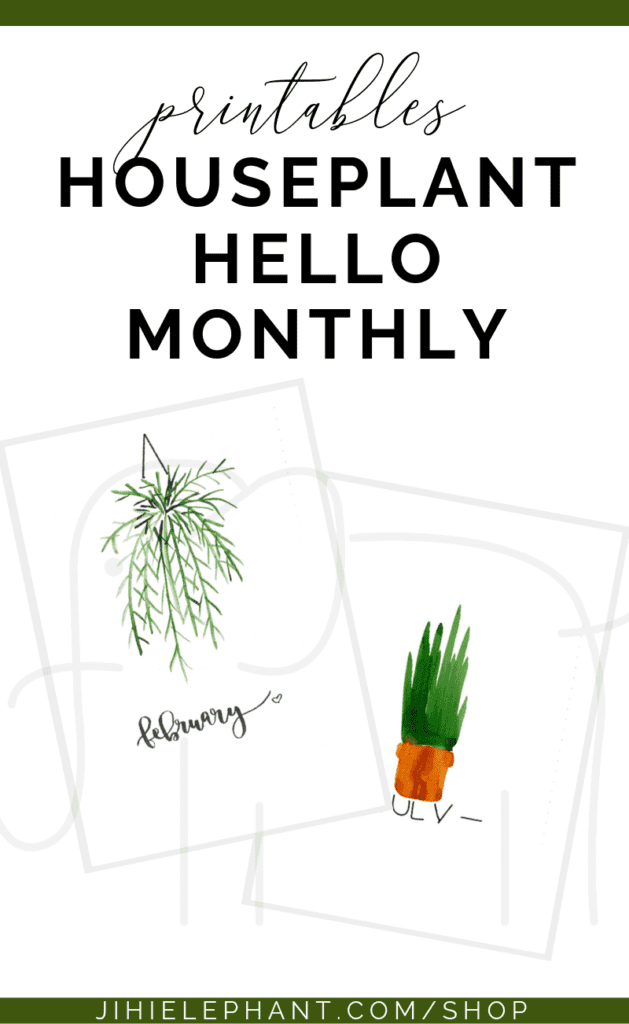 Do you love houseplants and wish to add them to your planner? These houseplant-themed hello monthly layouts have a unique watercolor plant for each month...