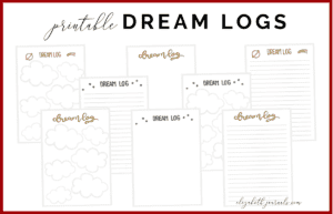 Do you have crazy dreams you want to log? Choose from these 3 available dream log styles to keep track of those crazy stories! Additionally, all lettering is hand-drawn. This bullet-journal-inspired download can be printed off and added to any planner or journal. Instantly download the PDF of this design once you purchase the listing. You will get three downloads to use immediately!