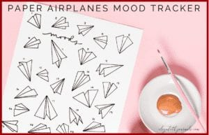 This paper airplane mood tracker is a one-page tracker. You can color in the different paper airplanes to depict each day's mood. The mood key is located at the bottom of the page where there are six different moods. This printable is great for any person wishing to add some flair to their planner. Instantly download the PNG of this design once you purchase the listing.