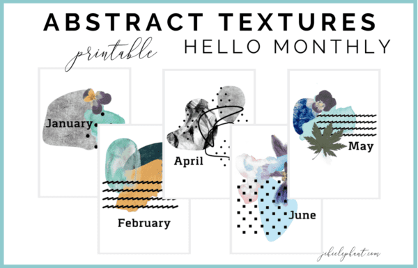 This abstract textures hello monthly printable bundle includes 12 monthly cover or hello pages. These layouts are colorful, bold, and crazy feature various shapes, patterns, and textures. These bullet-journal-inspired downloads can be printed off and added to any planner or journal. Instantly download the PNGs of these designs once you purchase the listing. You will get one download to use immediately!