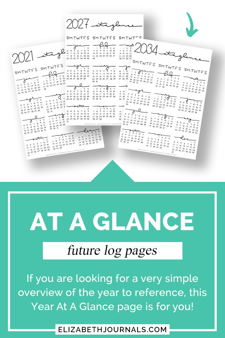 pinterest-at a glance-future log pages-feature one page glance