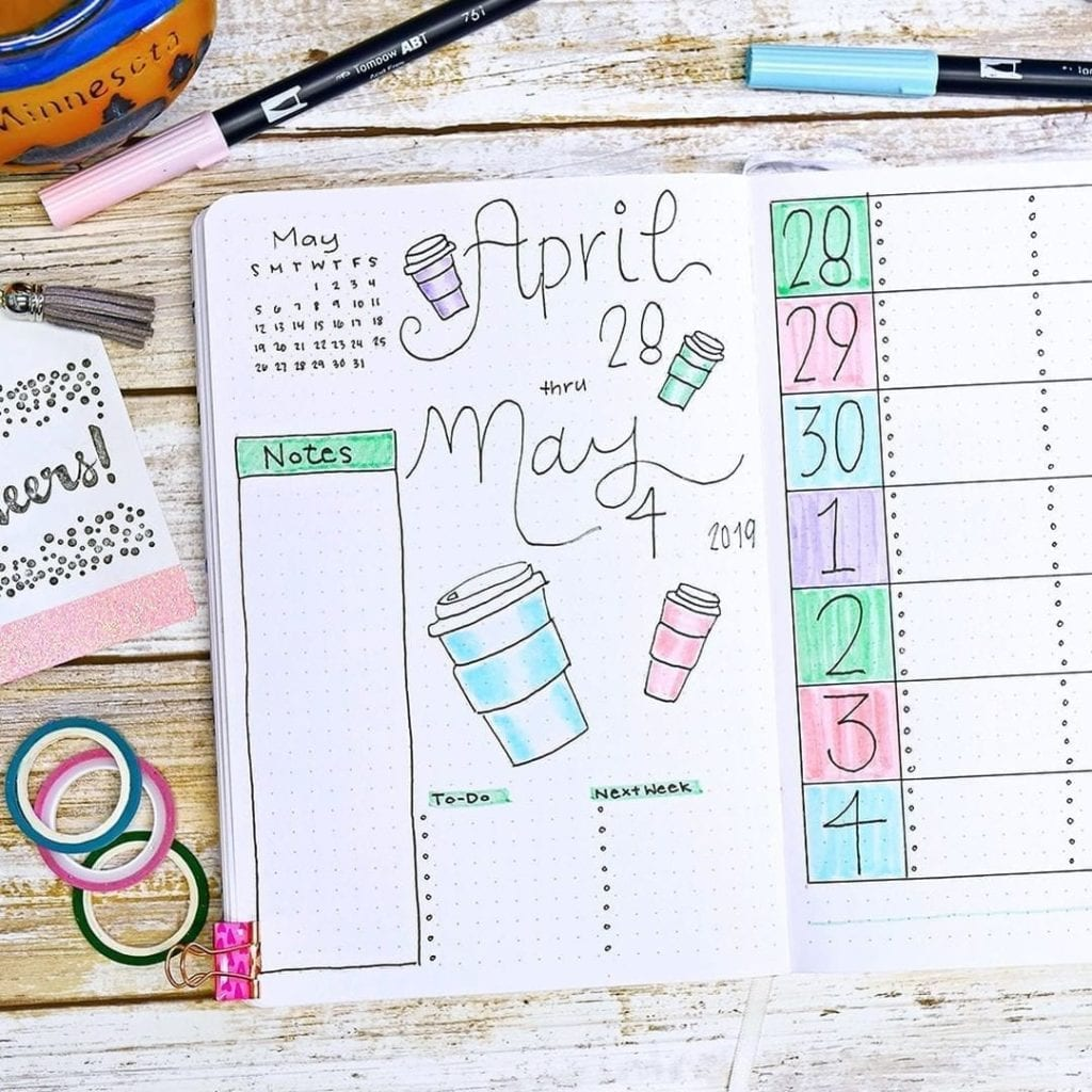 Coffee To Go April & May by @planningmindfully