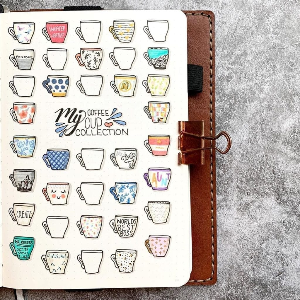 My Coffee Cup Collection by @plansthatblossom