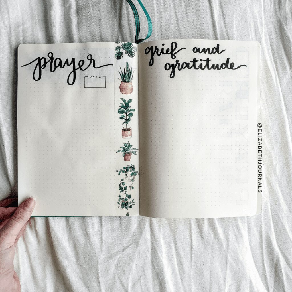 Grace's Grief Journal | Bullet Journal Inspired