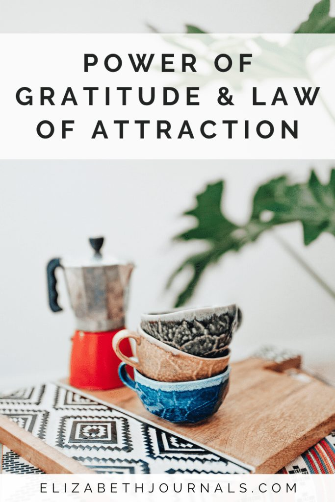 The practice of gratitude and law of attraction are powerful. I see gratitude as a way of shifting into a future version of ourselves - one we dream about.