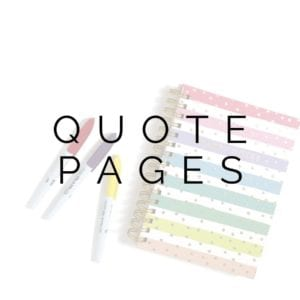 Printable Quote Pages