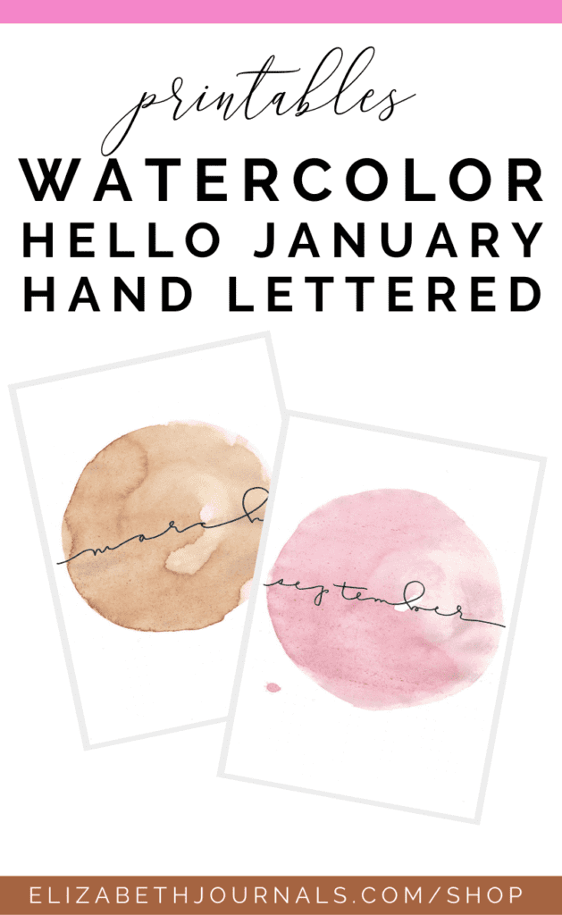 Interested in adding some watercolor and fun color to your planner? Then these bright watercolor hello monthly printables are perfect for you! ...