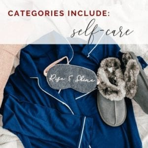freebie self-care categories icon