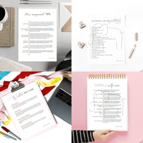 top-freebie-planning-self-care-collage