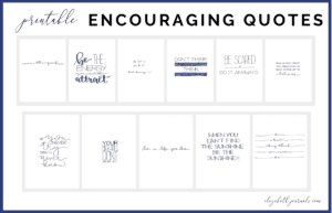 Are you looking to spruce up your planner or bullet journal? One of the most amazing ways to do this is with encouraging quotes! These simple quotes feature both black print and script lettering done by hand. The quotes included are listed below. Purchase this listing to instantly download the PDF of the designs. You get 1 PDF file including!