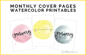 Interested in adding some watercolor and fun color to your planner? Then these bright watercolor hello monthly printables are perfect for you! They are entirely hand-drawn and can be purchased in red, orange, yellow, green, blue, dark blue, purple, pink, or brown. Additionally, there are two font options, brush lettered and minimal script. Purchase this listing for instant access to your download!
