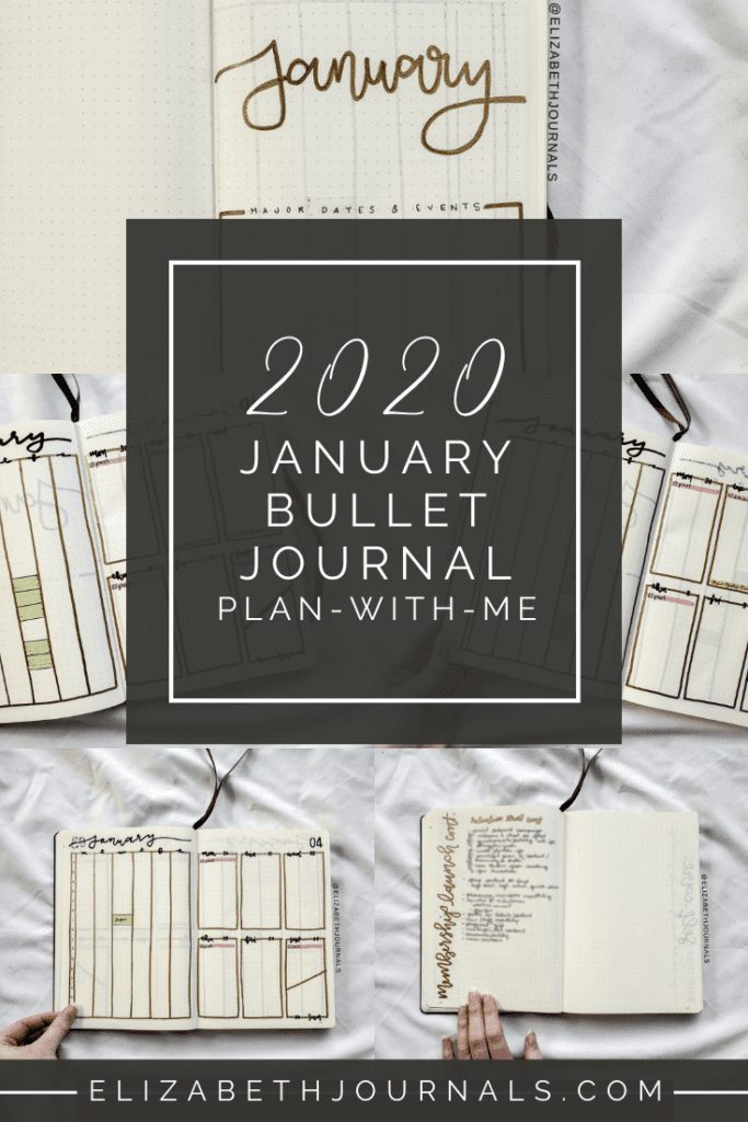With each new year, comes new things, including a new monthly bullet journal spread! For January 2020's theme, I went with a very minimal gold concept!