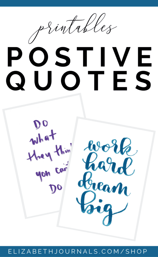 Are you looking to spruce up your planner and encourage a positive mindset? One amazing ways to do this is with some inspirational positive quotes!