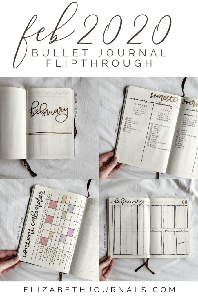I plan to keep this year simple to give me time to work on other things. This post will be a brief overview of my bullet journal layout for February 2020.