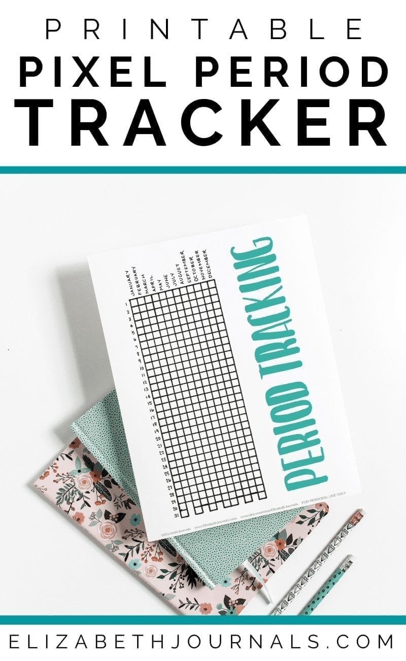 Looking for a cute printable to help you keep track of your period and flow? This printable pixel period tracker comes in four styles to suit your vibe.