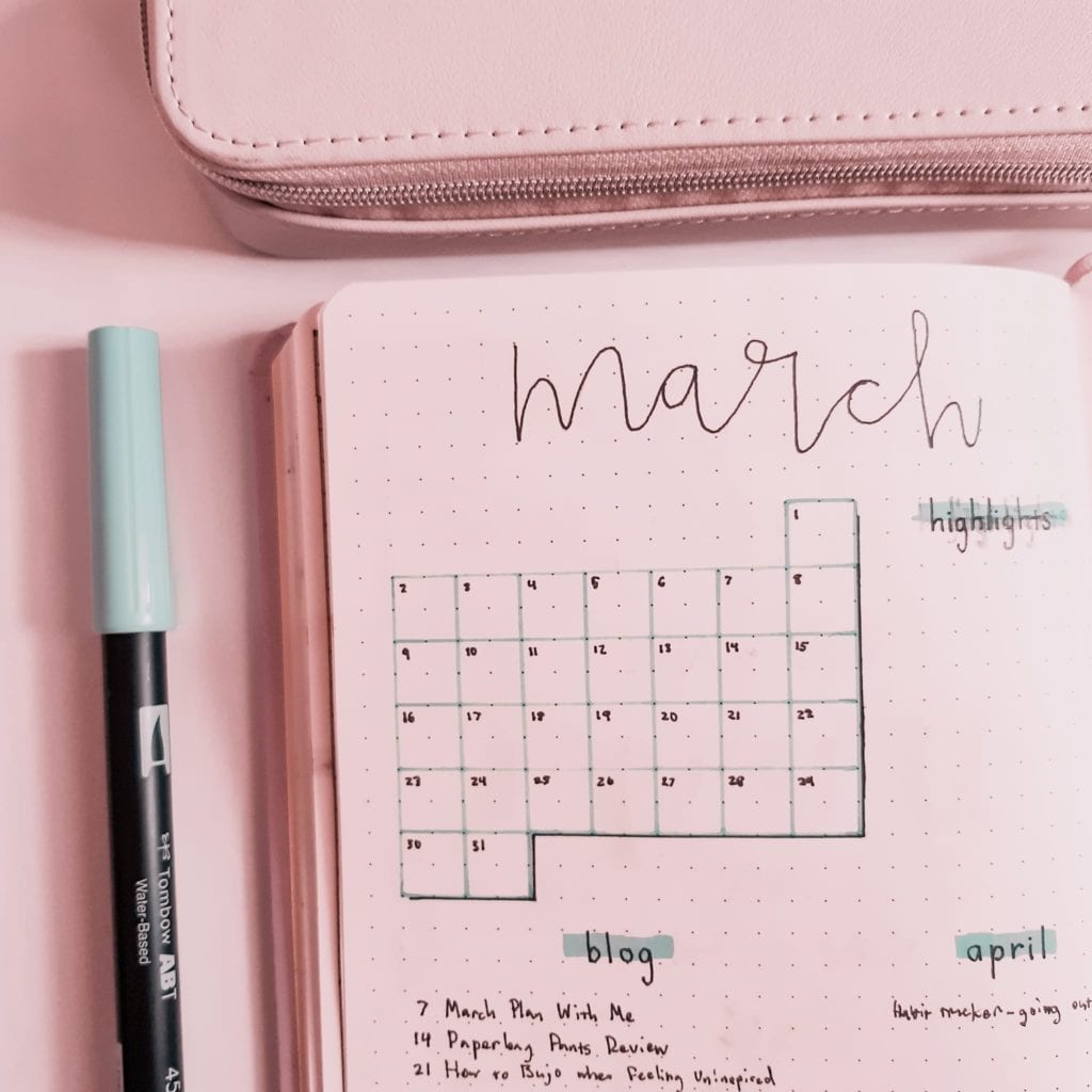 productive-pixie-march-monthly-log