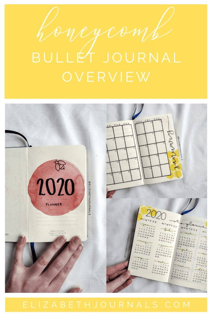 Looking for some awesome honeycomb and honey bee bullet journal inspiration? Check out Elen's custom honeycomb and bee themed bujo!
