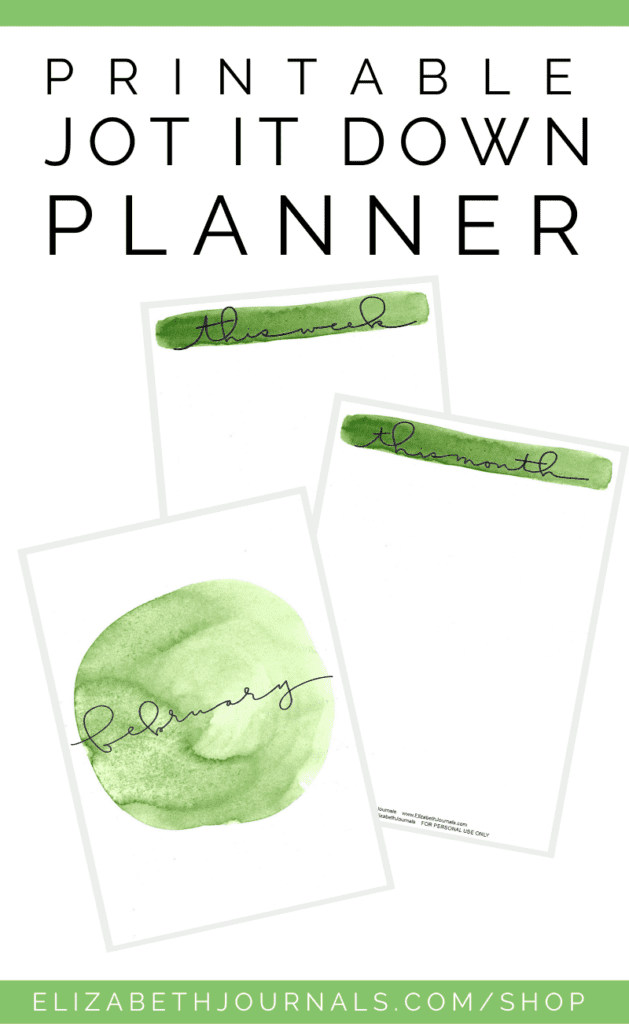 Are you looking for a simplified planner or a way to jot down some ideas and plans without being ultra-specific? Check out the Jot It Down Planner Kit!
