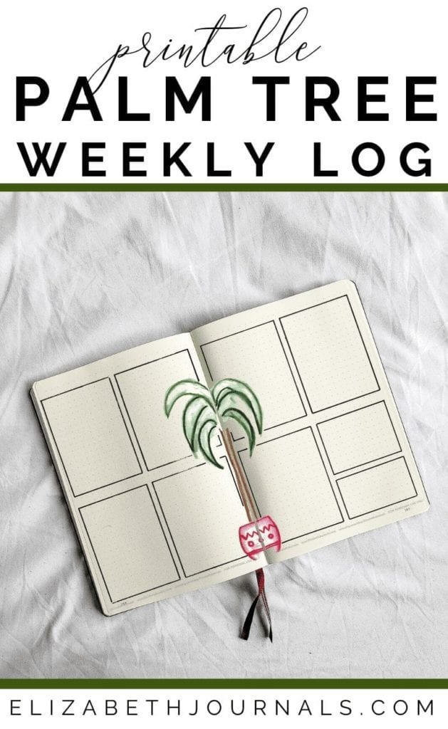 Are you a huge fan of indoor plants and watercolor artwork? This weekly log includes hand-painted water artwork and designs. Where the two pages meet is a watercolor palm tree in a red pot. The remainder of the spread is left blank for you to fill in but includes grid squares for each day of the week and two additional smaller boxes. These bullet-journal-inspired downloads can be printed off and added to any planner or journal. Instantly download the PDF of these designs once you purchase the listing. You will get one download to use immediately!