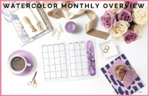 Are you looking for a fun way to add some watercolor or fun lettering into your planner? Check out these awesome watercolor monthly overview printables!
