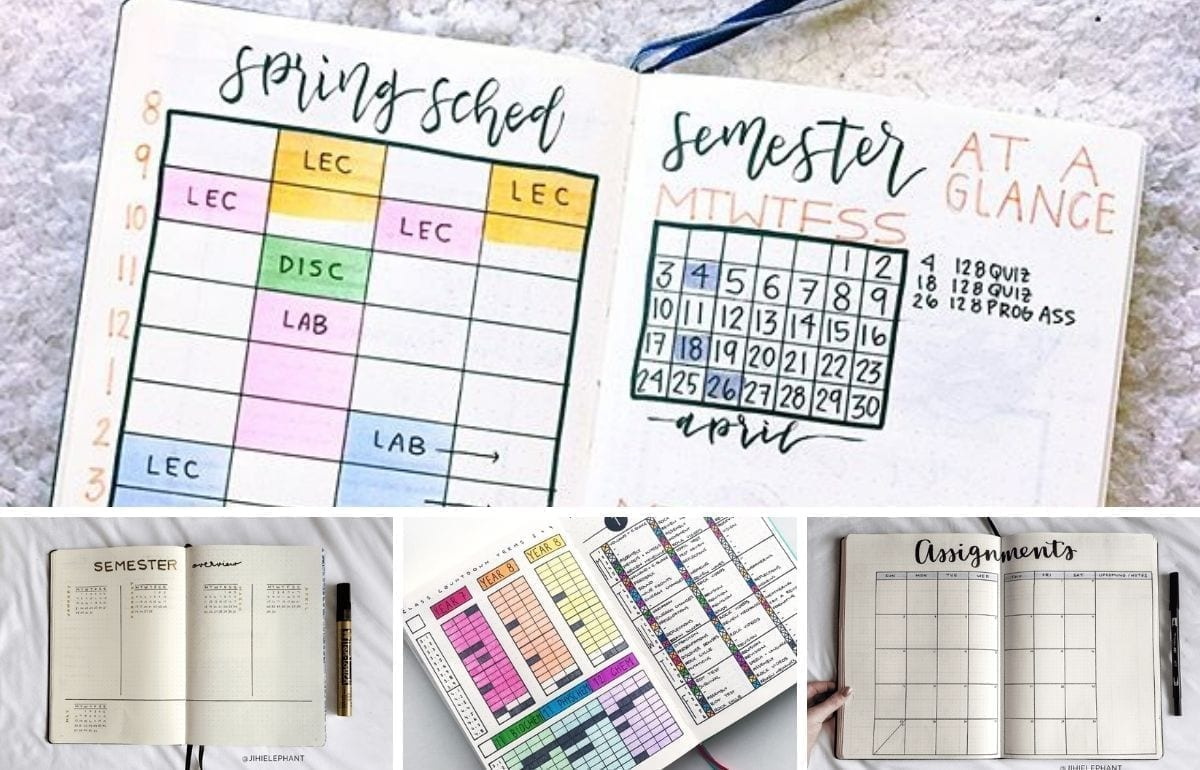 It's back to school season which means planning out all your new assignments this semester. Here are some awesome back to school bullet journal spreads!